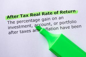 taux de rendement réel après impôt photo