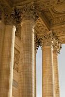 détails des colonnes du panthéon, paris photo