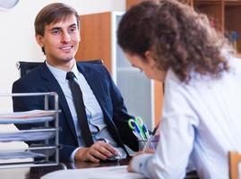 enseignant professionnel nouvel employé photo