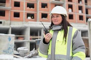 ingénieur civil au chantier de construction photo