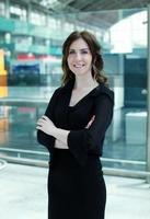femme d'affaires souriant photo