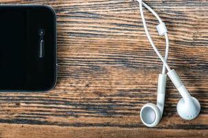 téléphone et écouteurs photo