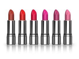 ensemble de rouges à lèvres rouges