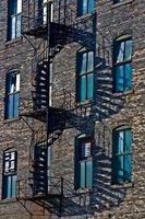 escalier de secours en spirale photo