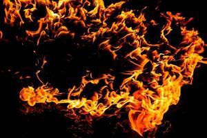 flamme de feu brûlant photo