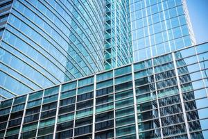Gros plan de gratte-ciel en verre moderne photo