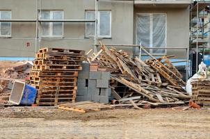 bloc d'appartements en construction.