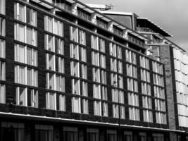 fond de bâtiment vintage noir et blanc photo