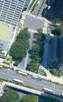 gros plan paysage urbain au japon tokyo shinjuku