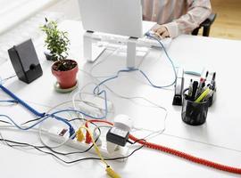 câbles d'ordinateur sur rallonge