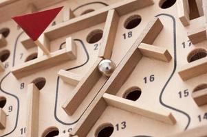 labyrinthe - jeu de labyrinthe photo