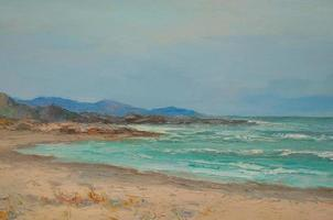 plage peinte photo
