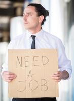 homme au chômage photo