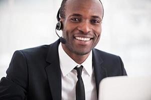 représentant du service à la clientèle. photo