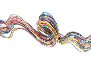 câble réseau informatique multicolore photo