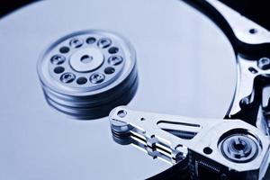 disque dur de l'ordinateur close up detail photo