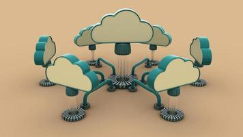 réseau cloud photo