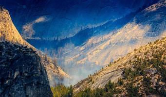yosemite - feu de forêt - photo télé