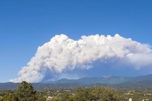 feu, montagnes sangre de cristo, santa fe, nouveau mexique, usa photo