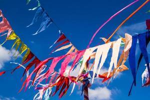 drapeaux de décoration bouddhiste photo