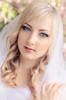portrait de printemps avec foulard photo
