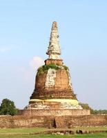 vieux temple thaïlandais photo