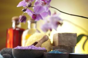 orchidées, produits bio, spa photo