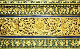 Motif de stuc thaï traditionnel décoratif dans le temple, Thaïlande