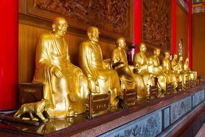 statues bouddhistes dans le temple chinois thaïlande