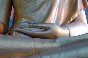 main de Bouddha en or