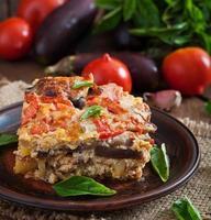 moussaka - un plat grec traditionnel