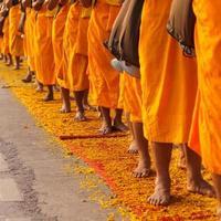 moines en thaïlande photo