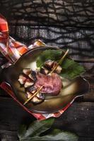 brochette figues et jambon