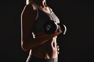 exercice avec haltères photo