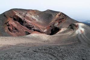 volcan du mont etna en sicile photo