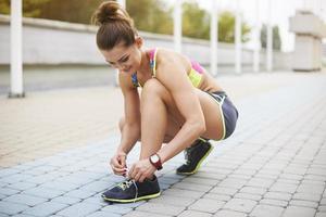 la préparation avant l'exercice est très importante photo