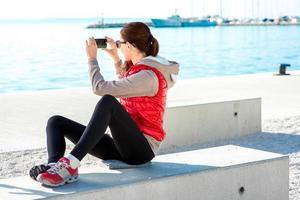 femme sport sur la promenade photo