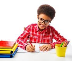 écolier afro-américain