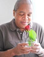 mâle afro-américain. photo