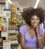 greffier afro-américain travaillant photo