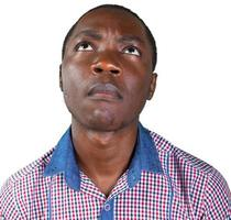 amical homme africain isolé fond blanc photo