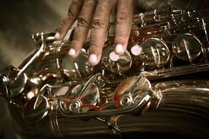 joueur de saxophone photo
