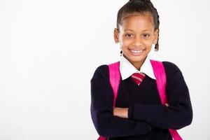 portrait d'écolière primaire
