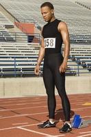 athlète de piste masculin photo