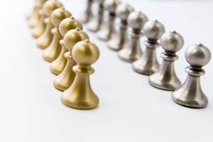 jeu d'échecs - pions en ligne photo