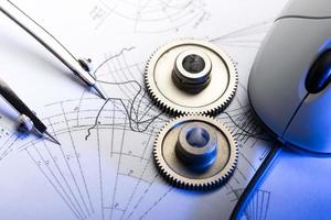 cliquets mécaniques, diviseurs et dessin photo