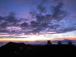 coucher de soleil sur mauna kea photo