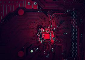 fond de carte de circuit imprimé photo