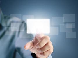 bouton écran tactile photo