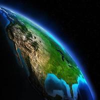 carte de la terre